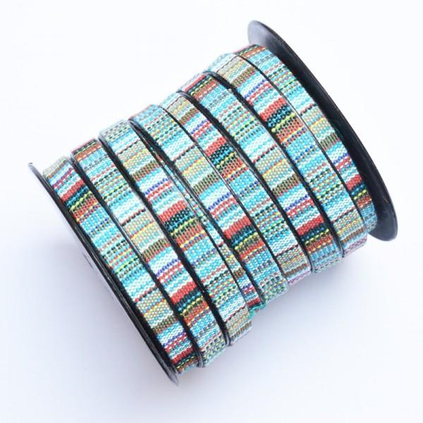 Kunstlederband, 9 mm blau