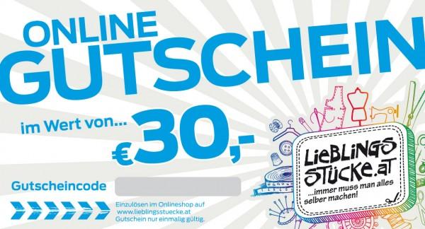 30 EUR Online Gutschein