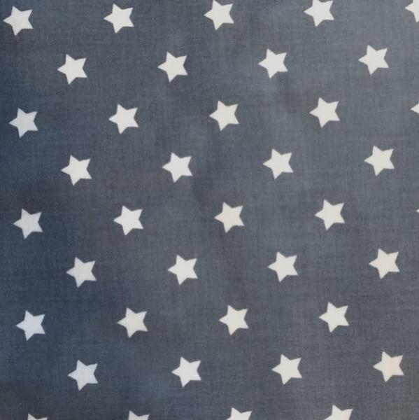 Laminat/Wachstuch, Sterne weiß auf grau