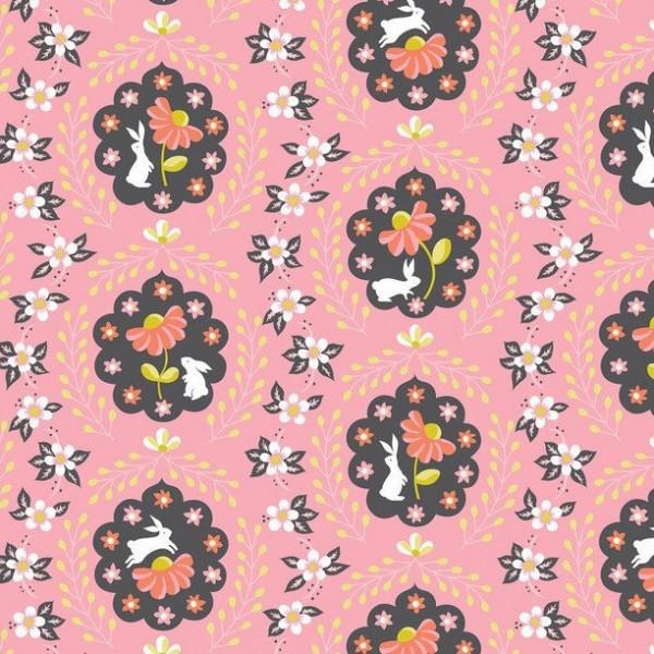 blendfabrics, Born Wild Häschen rosa