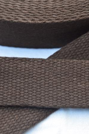 Baumwollgurtband, dunkelbraun, 2,5 cm