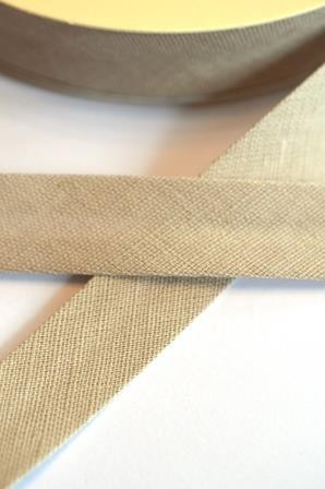 Leinen-Schrägbänder, beige