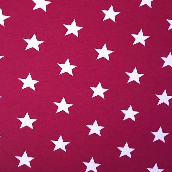 Stars weiß auf dunklem pink, Jersey