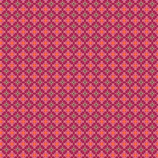 Grafisches Muster, zyklam/pink, Baumwoll-Popeline, 60°waschbar