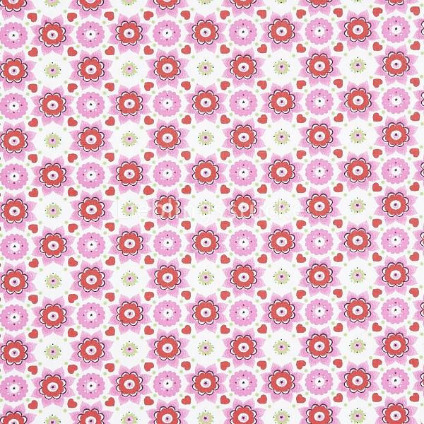 Hilco Hilde Blumen rosa , Popeline, *SALE*