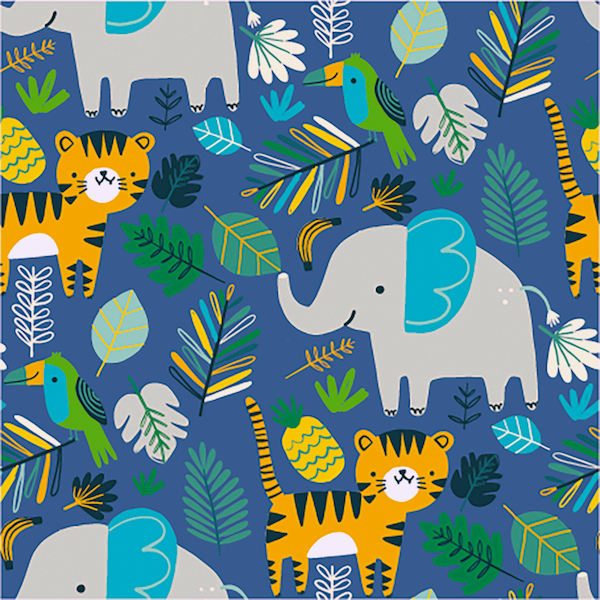 Lucas Tiere im Dschungel, dunkelblau, Sweat