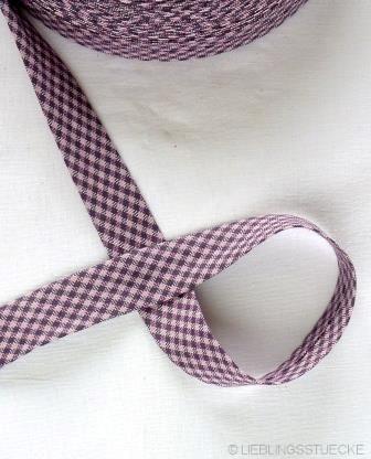 Westfalen Schrägband, karo dunkelviolett-mauve