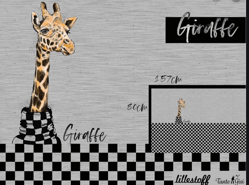 lillestoff, Giraffe, Jersey, Paneel