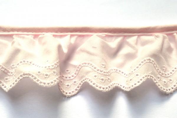 Stoffspitze Sarah, rosé, 46 mm