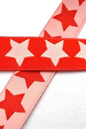 Big Stars, rosa-rot, Webband beidseitig
