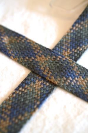 breite, flache Kordel, Multicolor, braun-grau-blau *SALE*