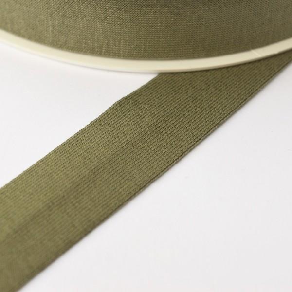 Viskosejersey-Schrägband, oliv