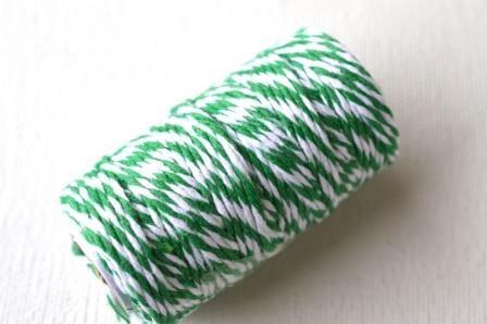dünne Kordel, 1,5 mm, grün-weiß *SALE*