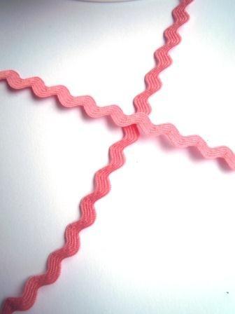 Zackenlitze 8 mm, rosa
