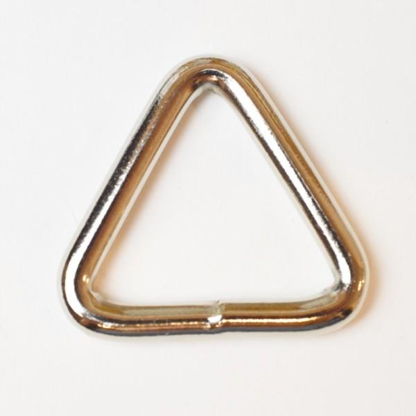 Geschweißter Triangel, 25 mm, silber