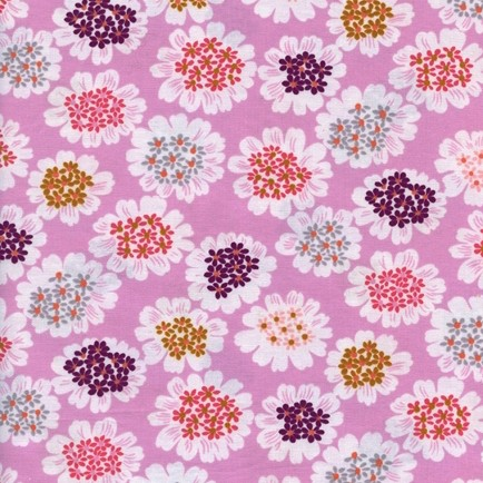 Cotton+Steel, Steno Pool, Blumen auf rosa, Webstoff