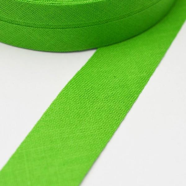 Schrägband, 20 mm, grasgrün