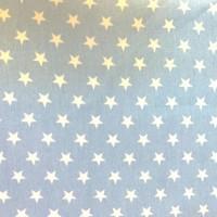 Sommerjeans Sterne weiß auf ganz hellem jeansblau