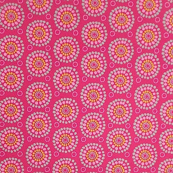 Blumen aus Punkten pink, Webstoff