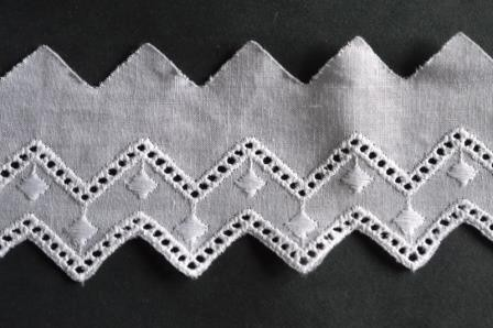 Festonspitze Isa, 50 mm, weiß