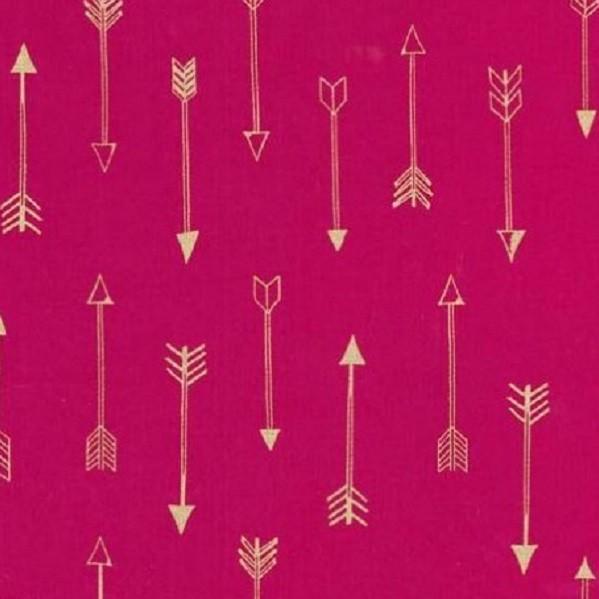 Michael Miller, Arrows pink mit gold, Webstof3
