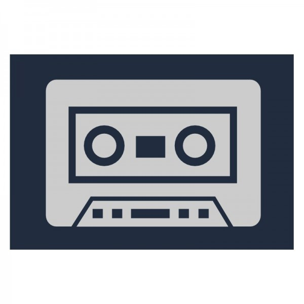 Reflektoraufbügler, Musikkassette, klein