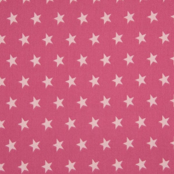 Mira Sterne hellrosa auf himbeere, Webstoff