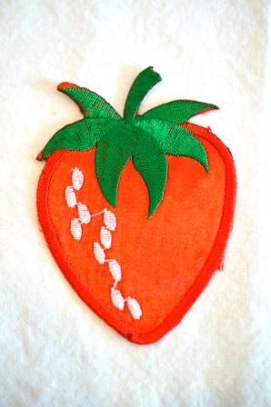 Applikation Erdbeere, groß