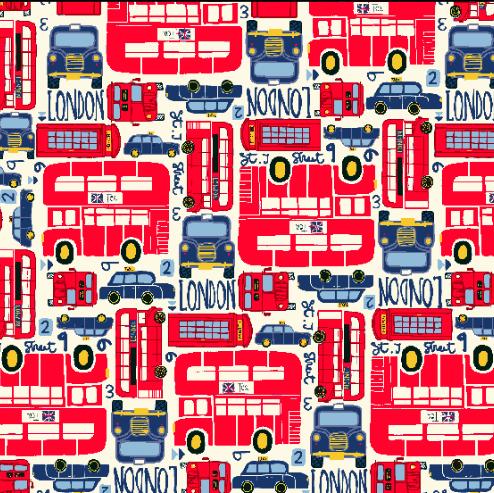 London Busse, Webstoff