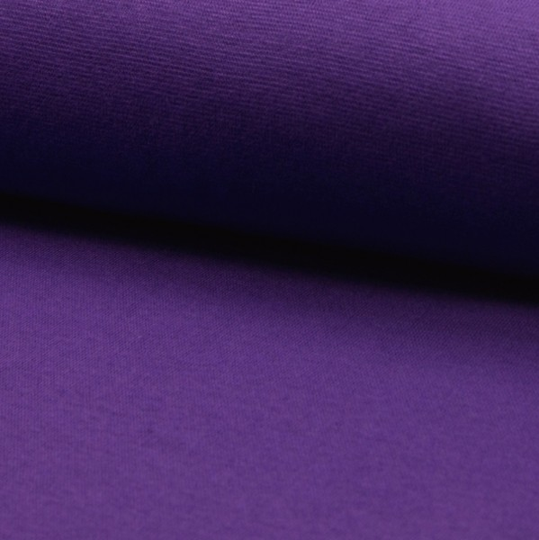 Glattes Bündchen violett