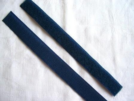 Klettverschluss, dunkelblau