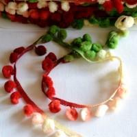 Pommerlborte, weiß-rot-grün