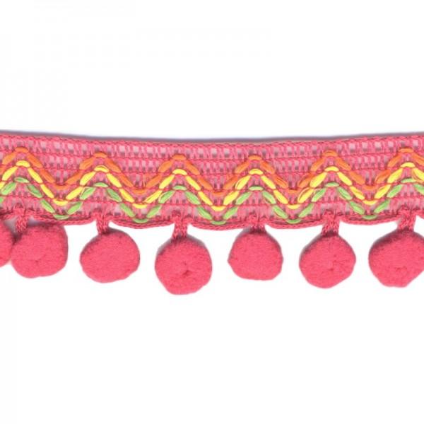 Pommerlborte mit Zickzack, pink