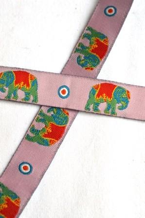 Elefanten, rosa, Webband *SALE*
