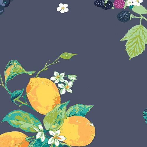 Art Gallery, Mediterraneo Frutteria, bleu, Baumwollstoff