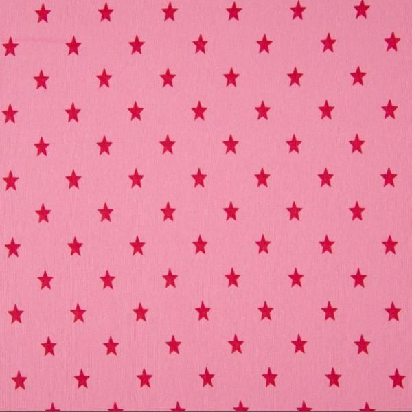 Bündchen mit Sternen pink auf rosa