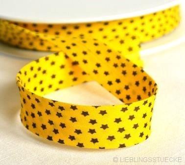 Schrägband, Sterne, gelb