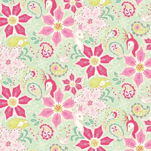 blendfabrics, Christmas Dear Kombi, mint
