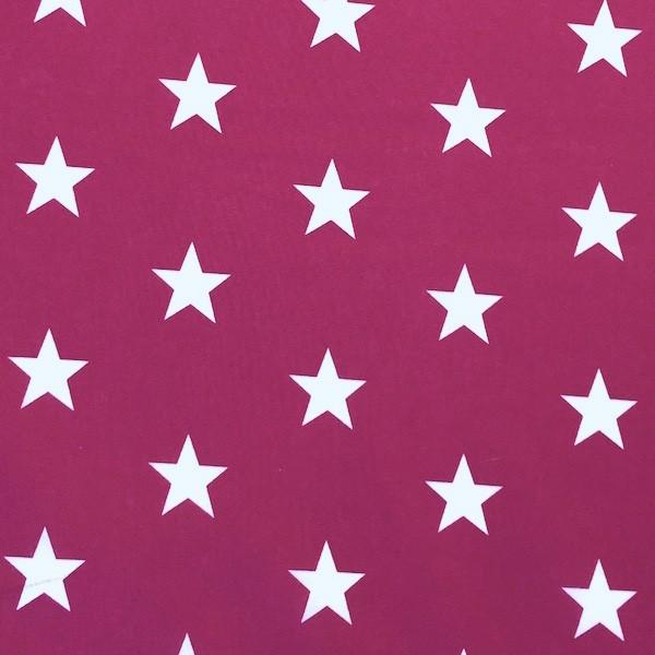 Lili Big Star weiß auf beere, Webstoff, waschbar bei 60°