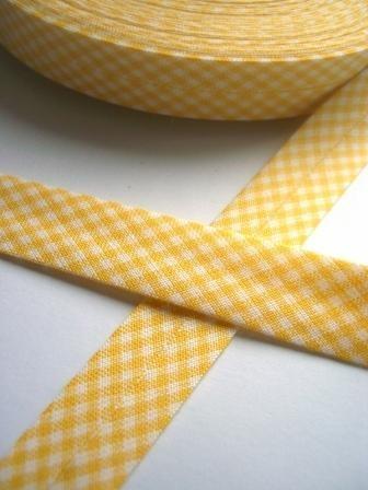 Westfalen Schrägband, karo gelb-weiß