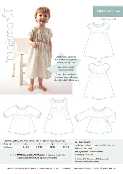 Minikrea Kleidchen 20000, Schnittmuster