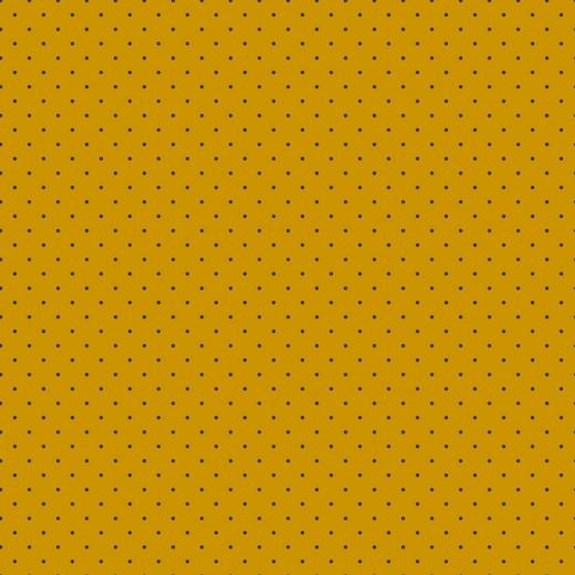 Bio-Jersey, Mini-Dots dunkelblau auf senf