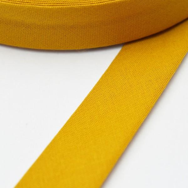Schrägband, 20 mm, ocker