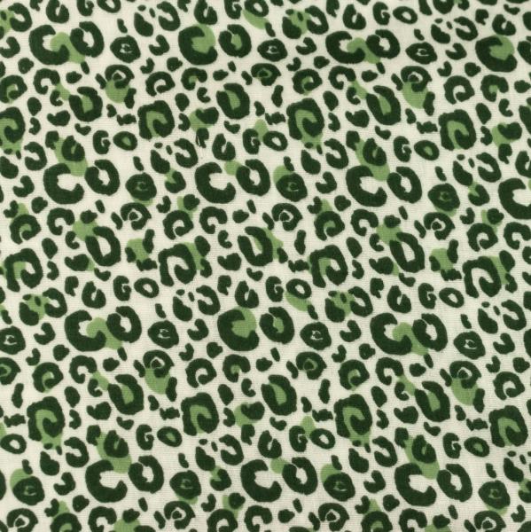 BIO-Musselin, Leo-Print grün