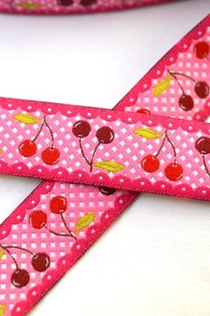 Kirscherl, pink, Webband