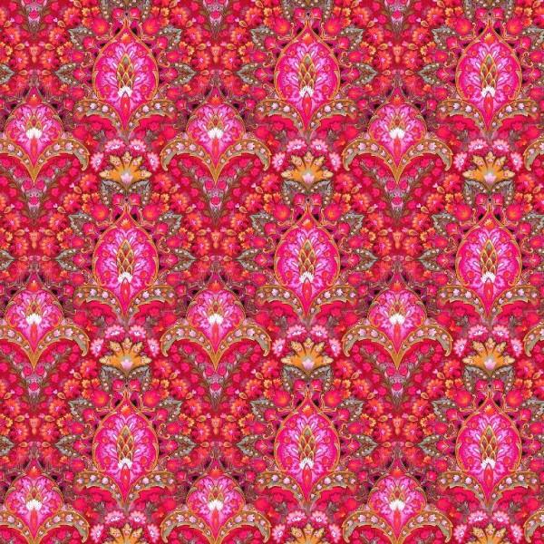 Indian Summer pink, Baumwoll-Popeline