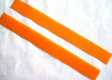 Klettverschluss, orange