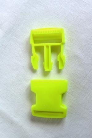 Kunststoffschnallen, neongelb