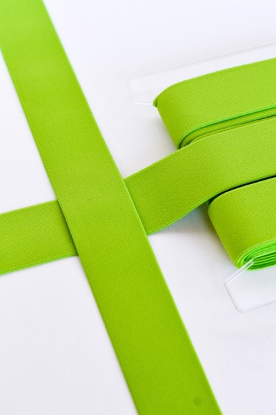 Gummiband breit, hellgrün