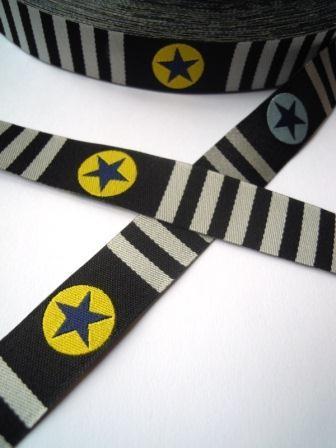 Stars 'n Stripes, schwarz, Webband *SALE*